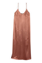 Long satin dress - Rust - Ladies | H&M GB 2