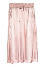 Gonna in satin - Rosa chiaro - DONNA | H&M IT 2