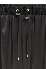 Satin skirt - Black - Ladies | H&M CN 3