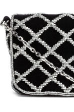 Beaded shoulder bag - Black - Ladies | H&M CN 3