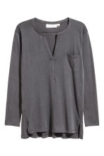 Top in jersey con scollo a V - Grigio scuro - DONNA | H&M IT 2