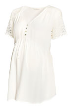 MAMA Chiffon blouse with lace - White - Ladies | H&M CN 2