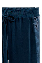 Joggers con bande in satin - Blu scuro - DONNA | H&M IT 2