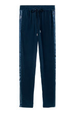 Joggers con bande in satin - Blu scuro - DONNA | H&M IT 1