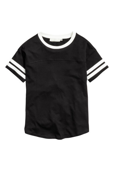 T-shirt - Black - Ladies | H&M CN