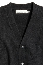Wool-blend V-neck cardigan - Black marl - Men | H&M CN 3