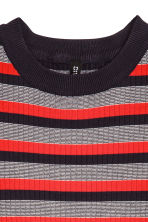 Sleeveless top - Dark blue/Red striped -  | H&M CN 3