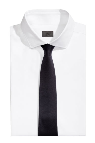 Wool-blend tie - Dark blue - Men | H&M CN 1
