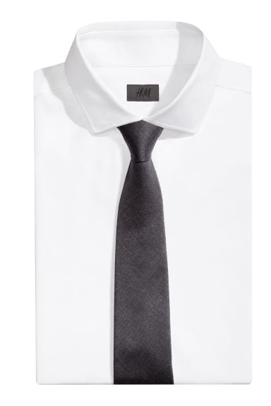 Wool-blend tie - Anthracite grey - Men | H&M CN 1