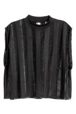 Trashed jersey top - Black - Ladies | H&M CN 2