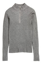Ribbed jumper - Dark grey marl - Ladies | H&M CN 2