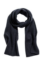 Cashmere scarf - Dark blue - Men | H&M CN 1
