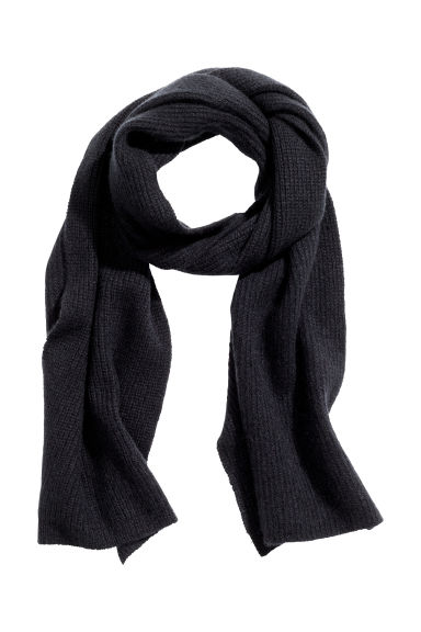Cashmere scarf - Black - Men | H&M IE 1