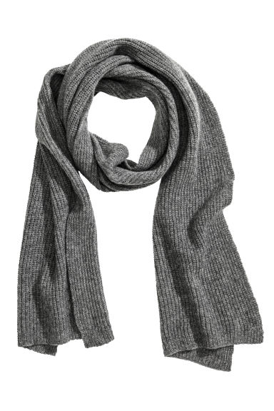 Cashmere scarf - Grey marl - Men | H&M 1