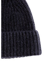 Cashmere hat - Dark blue -  | H&M CN 2