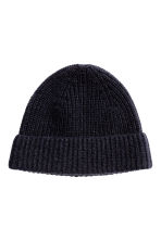 Cashmere hat - Dark blue -  | H&M CN 1