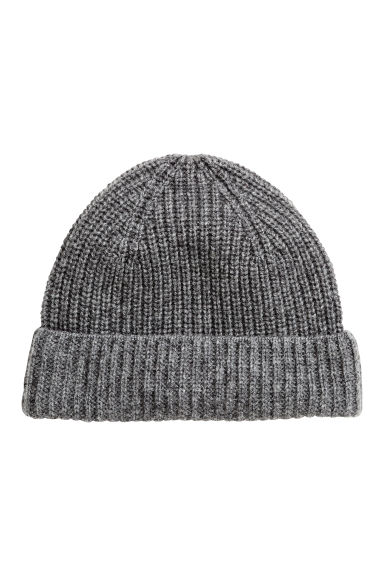 Cashmere hat - Dark grey marl -  | H&M CN 1