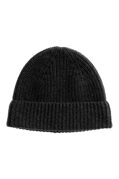 Cashmere hat - Black - Men | H&M CN 1