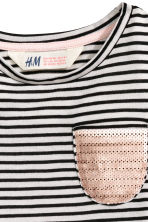 Striped jersey top - Black/White/Striped - Kids | H&M CN 3