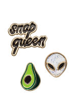 3-pack pin brooches - Green - Ladies | H&M CN 1