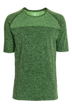 Seamless running top - Neon green marl - Men | H&M CN 2