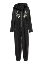 Jersey jumpsuit - Black - Ladies | H&M CN 2