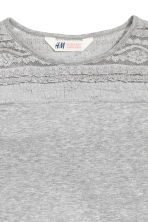Jersey top with a lace yoke - Grey - Kids | H&M CN 3