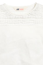Jersey top with a lace yoke - White - Kids | H&M CN 3