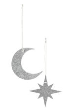 2-pack Christmas decorations - Silver - Home All | H&M CN 2