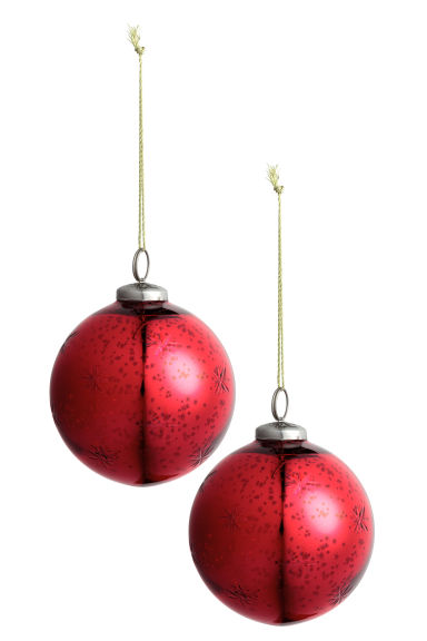 2-pack Christmas decorations - Red - Home All | H&M CN 1