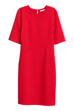 Crêpe dress - Red - Ladies | H&M GB 2