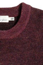 Wool-blend jumper - Burgundy marl - Men | H&M CN 3