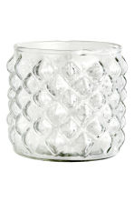 Glass tealight holder - Clear glass - Home All | H&M CN 2