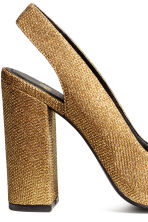 Glittery slingbacks - Gold - Ladies | H&M GB 4