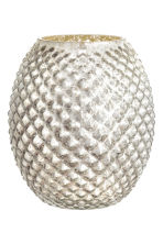 Large glass vase - Silver - Home All | H&M GB 2