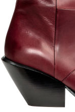 Leather boots - Burgundy - Ladies | H&M CA 3