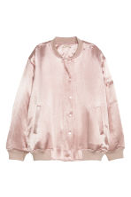 Satin bomber jacket - Light pink - Ladies | H&M CN 2