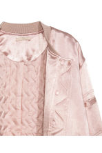 Satin bomber jacket - Light pink - Ladies | H&M CN 3