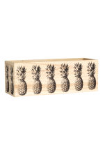 Small printed wooden box - Light beige/Pineapple - Home All | H&M CN 1