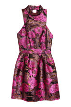 Jacquard-weave dress - Black/Pink floral - Ladies | H&M CN 2