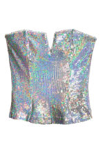 Sequined bustier - Silver - Ladies | H&M CN 2
