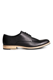 Derby shoes with nylon detail