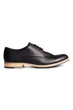 Derby shoes with nylon detail - Black - Men | H&M CN 1