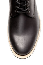 Derby shoes with nylon detail - Black - Men | H&M CN 3