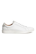 Leather trainers - White -  | H&M CN 2