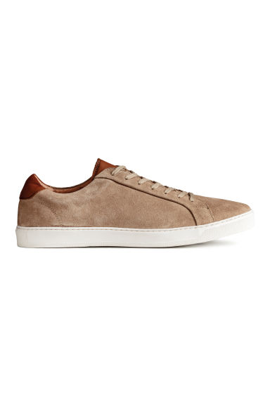 Leather trainers - Beige - Men | H&M CN 1