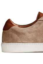 Leather trainers - Beige - Men | H&M CN 4