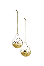2-pack Christmas decorations - Gold - Home All | H&M 1