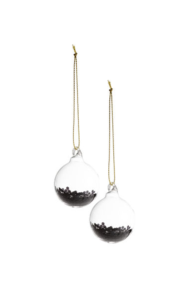 2-pack Christmas decorations - Black/Gold - Home All | H&M 1