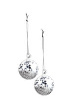 Lot de 2 boules de Noël - Argenté - Home All | H&M CA 1